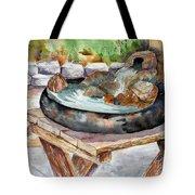 Rock Fountain Tote Bag
