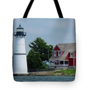 Rock Island Lighthouse July Tote Bag