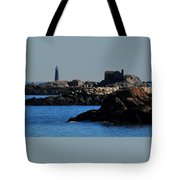 Rock Islands And Minots Light Tote Bag