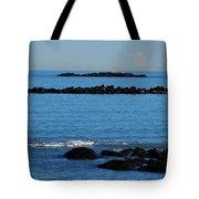 Rock Ledges And Calm Seas Tote Bag