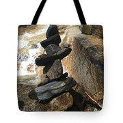 Rock Monument At Jones Gap Falls II Tote Bag