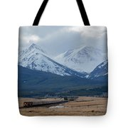 Rock Mountain Front- Train Tote Bag
