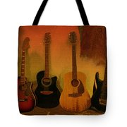 Rock N Roll Guitars Tote Bag