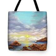 Rock Pools, Seascape Tote Bag