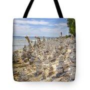 Rock Structures On Lake Michigan Tote Bag