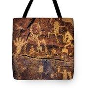 Rock Wall Of Petroglyphs Tote Bag