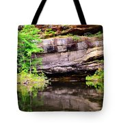 Rock Wall Reflections Tote Bag