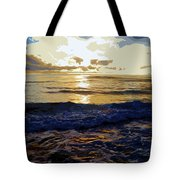 Rockaway Sunset #3 Enhanced #2 Tote Bag