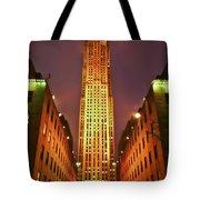 Rockefeller Center Tote Bag by Evelina Kremsdorf