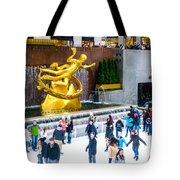 Rockefeller Center Skating Rink New York City Tote Bag