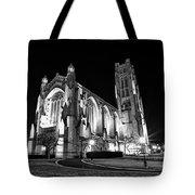 Rockefeller Chapel - B And W Tote Bag