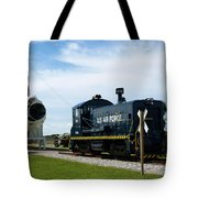 Rocket Locomotive At Cape Canaveral In Florida Tote Bag