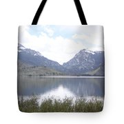 Rockies Over The Lake Tote Bag