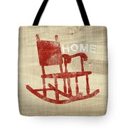 Rocking Chair Home- Art By Linda Woods Tote Bag