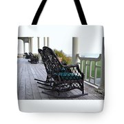 Rocking Chairs On The Porch Tote Bag