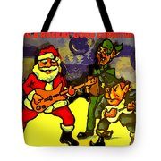 Rocking Roll Christmas Card Tote Bag