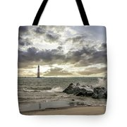 Rocking The Atlantic Ocean Tote Bag