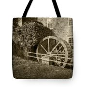 Rockland Grist Mill - Sepia Tote Bag
