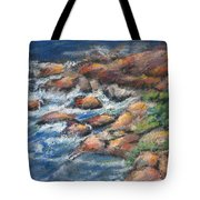 Rocks Along The Shore Tote Bag