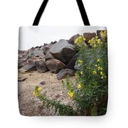 Rocks And Flowers Tote Bag