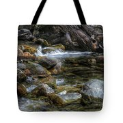 Rocks And Little Water Tote Bag