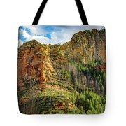 Rocks And Pines Tote Bag
