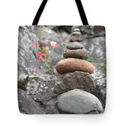 Rocks And Roses Tote Bag