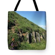 Rocks, Flowers, And Hillside Tote Bag