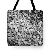 Rocks From Beaches In Black And White Tote Bag