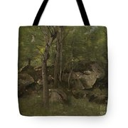 Rocks In The Forest Of Fontainebleau Tote Bag