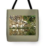 Rocks Reflecting Off Water Tote Bag