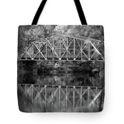Rocks Village Bridge In Black And White Tote Bag
