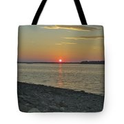 Rocks Watch The Sunset Tote Bag