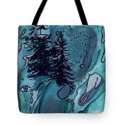 Rocksntrees Abstract Tote Bag