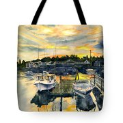 Rocktide Sunset Tote Bag