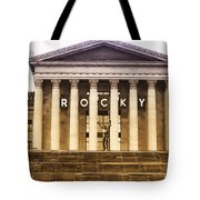 Rocky Balboa On The Art Museum Steps Tote Bag