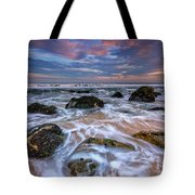 Rocky Beach At Sandy Hook Tote Bag