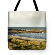 Rocky Coast Bench Tote Bag