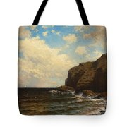 Rocky Coast With Breaking Waves Tote Bag