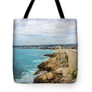 Rocky Coastline In Nice, France Tote Bag