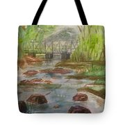 Rocky Creek In The Catskills  Tote Bag