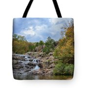 Rocky Falls In The Fall Tote Bag