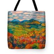 Rocky Knob In Fall Tote Bag