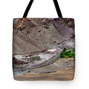 Rocky Landscape Of Leh City Ladakh Jammu And Kashmir India Tote Bag