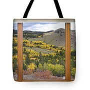 Rocky Mountain Autumn Picture Window View Tote Bag