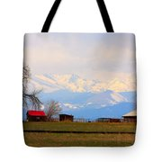 Rocky Mountain Boulder County View Tote Bag