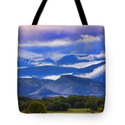 Rocky Mountain Cloud Layers Tote Bag