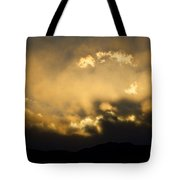Rocky Mountain Continental Divide Sunset Tote Bag