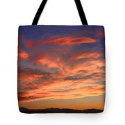 Rocky Mountain Front Range Sunset Tote Bag