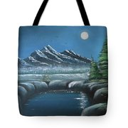 Rocky Mountain Fullmoon Tote Bag